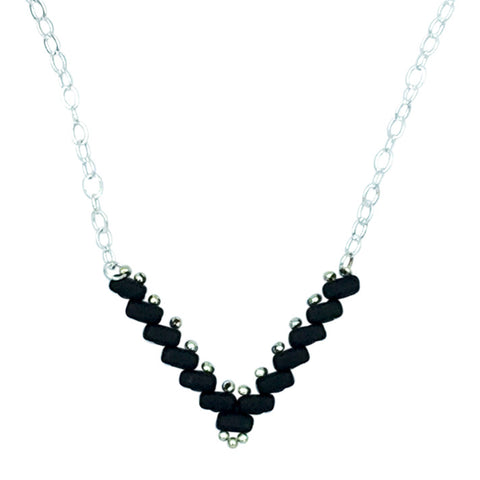 Matte Black Vee Necklace
