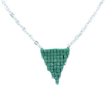 Cube Matte Finish Triangle Necklace