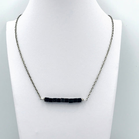 Obsidian Bar Necklace