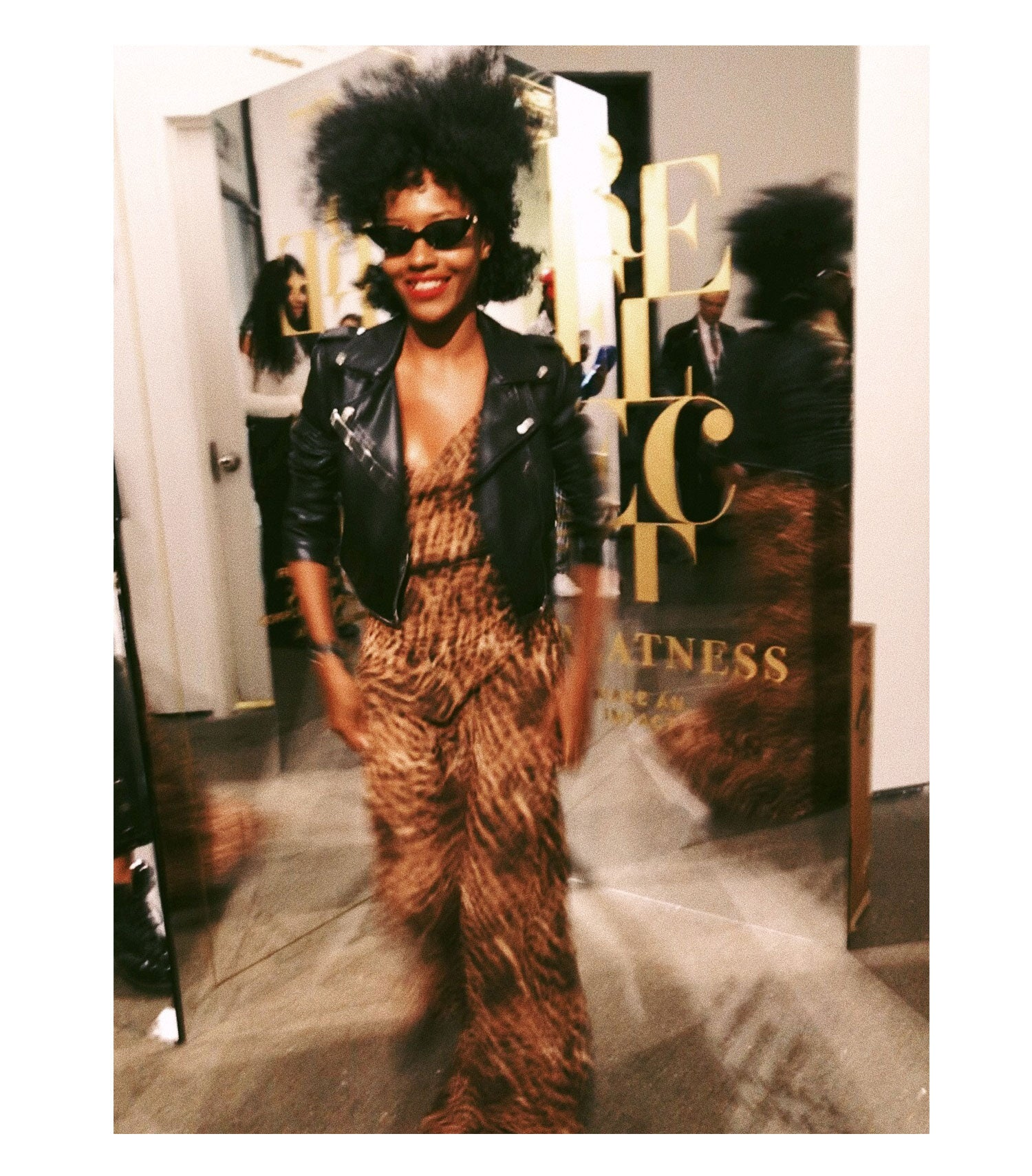 Kamara Williams | The Vetiver Collection | Leopard Slip Dress | NYFW