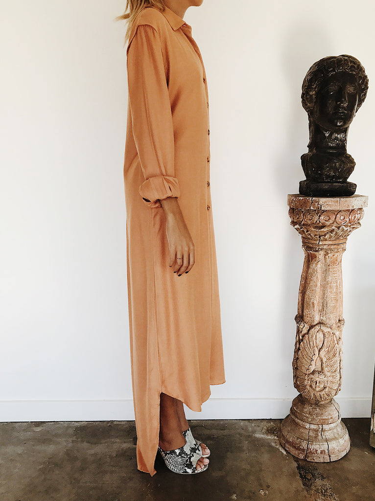 The Vetiver Collection | Avalon Maxi Shirt Dress