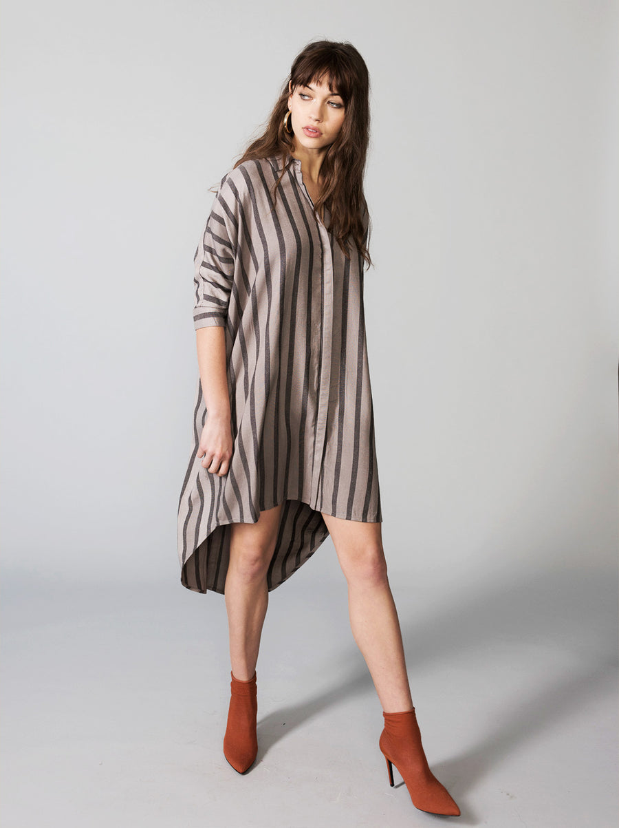 Dear Prudence Button Up Dress - Vetiver