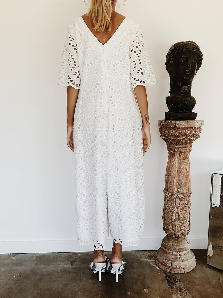 The Vetiver Collection | Halcyon Eyelet Jumpsuit