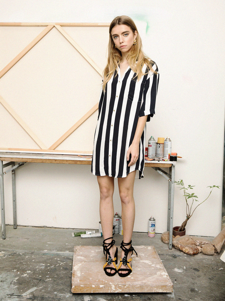 The Vetiver Collection | Maui Wowie Striped Shirt Dress