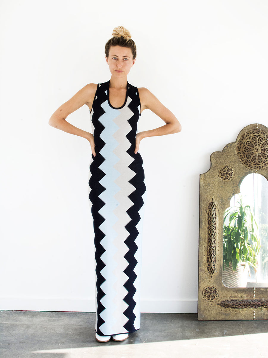 The Vetiver Collection | Rockaway Bodycon Zigzag Maxi
