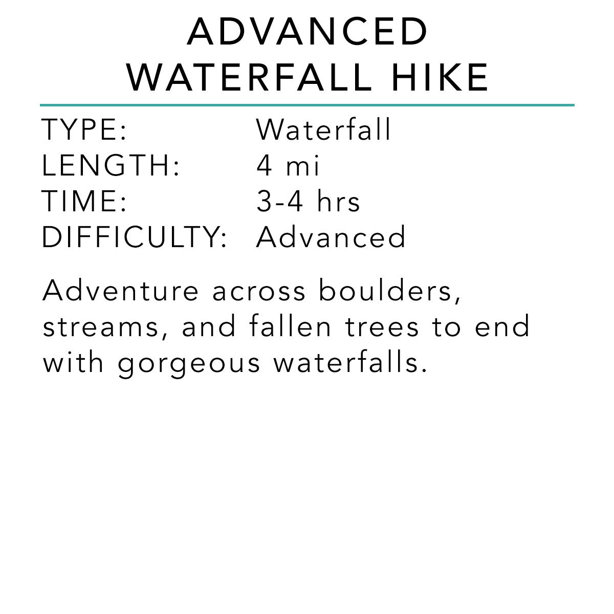 Advanced Waterfall Hike