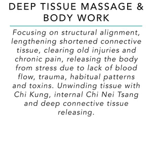 Deep Tissue Massage & Body Work - 90 Minutes