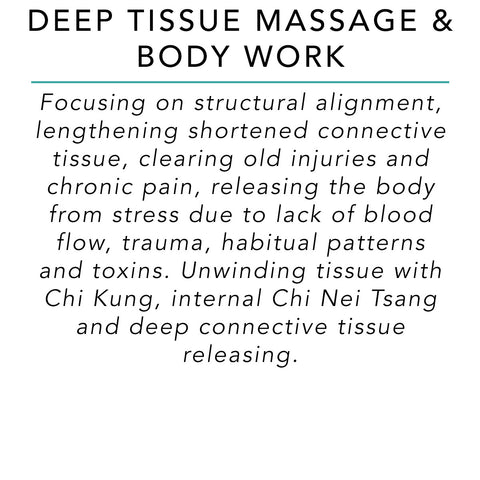 Deep Tissue Massage & Body Work