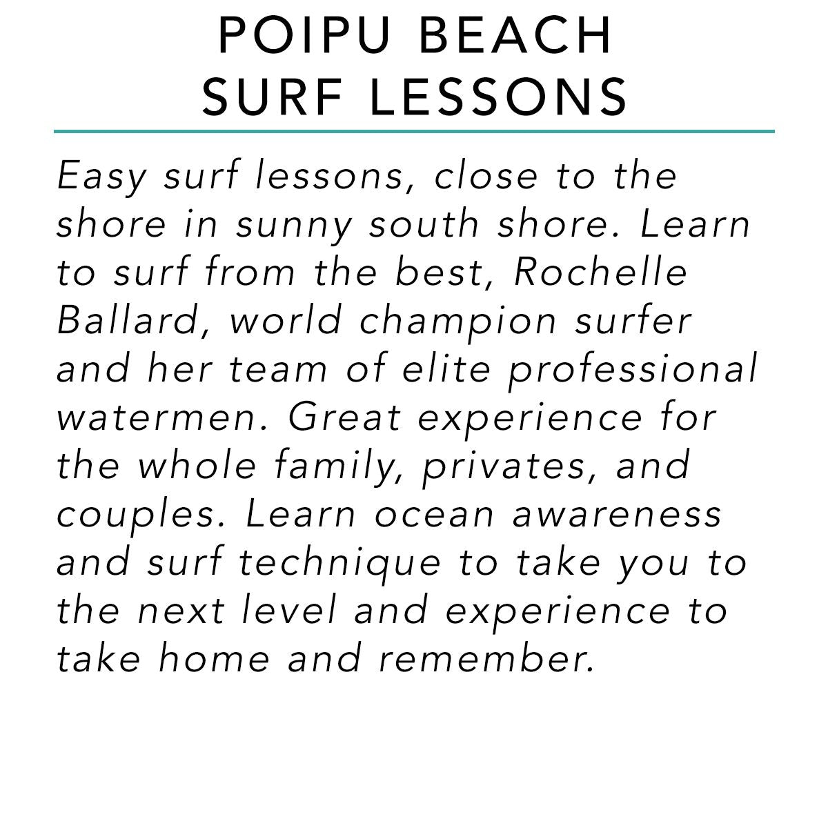 Poipu Beach Surf Lessons