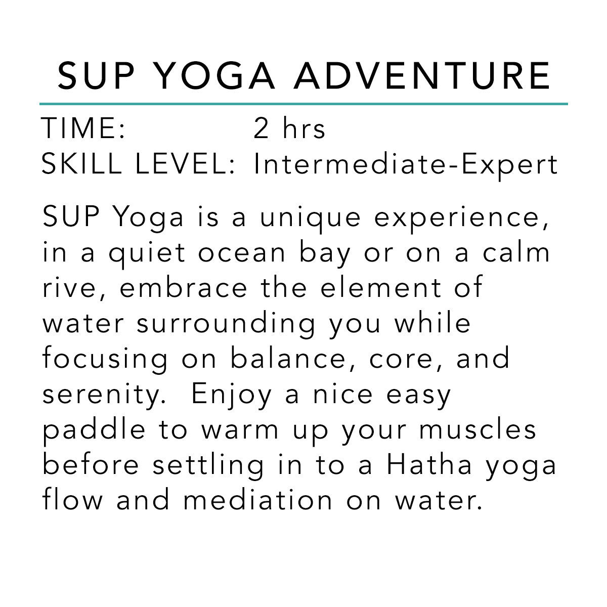 SUP Yoga Adventure