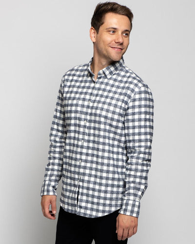 Grey Gingham | Brushed Button Down