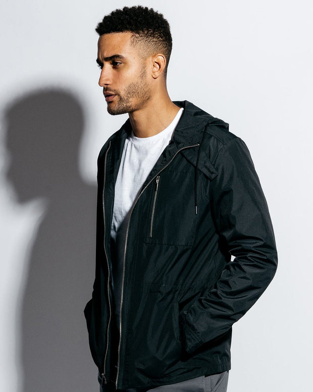 Black | Lightweight Hooded Jacket