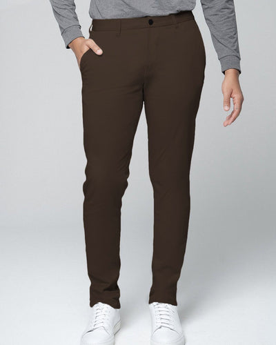 Chocolate Brown | Tech Chino Pants