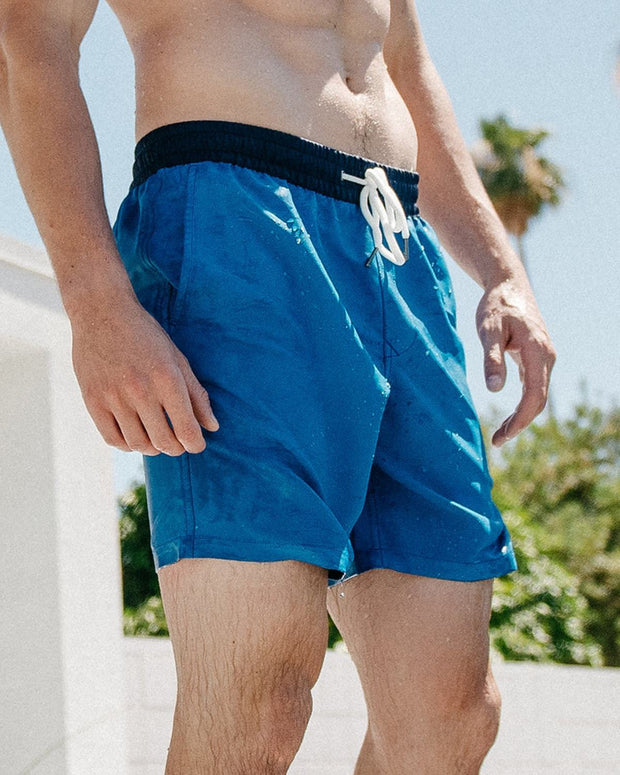 Two-Toned Blue | Swim Trunks