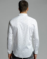 Cocktail Print | Stretch Long Sleeve Button Down