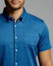 Blue Coconut | Stretch Short Sleeve Button Down Shirt