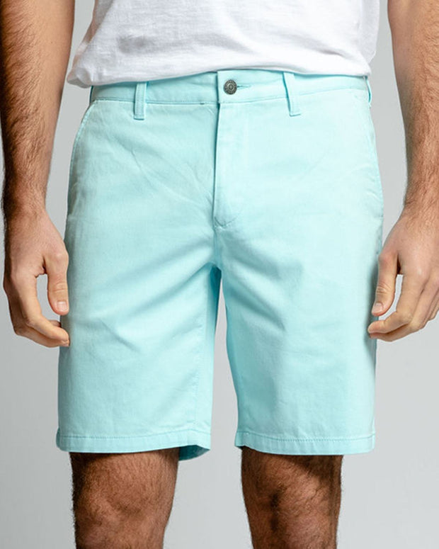 Turquoise Stretch Chino Shorts