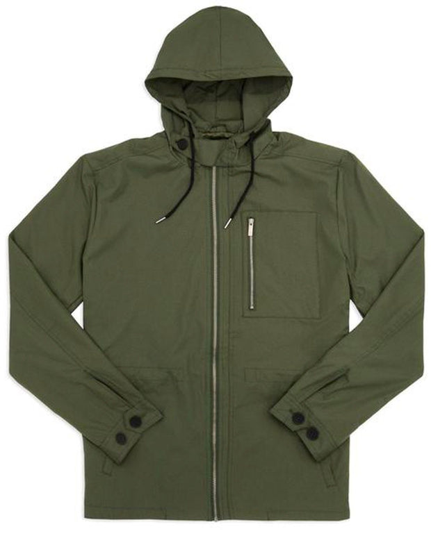 Army Green | Lightweight Hooded Jacket