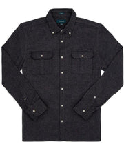 Black | Double Pocket Twill Shirt