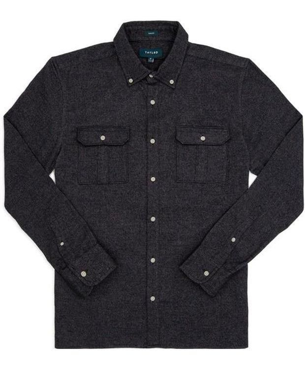Black | Brushed Button Down