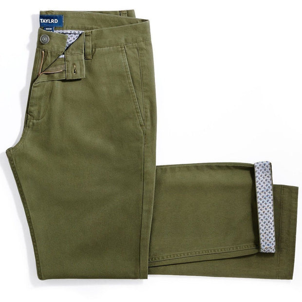 Olive Chino Pant (Final Sale) - TAYLRD