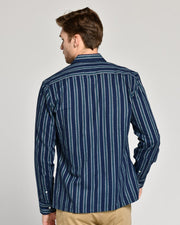 Sea Stripe | Brushed Button Down