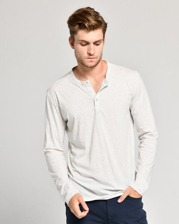 White | Pima Cotton Henley