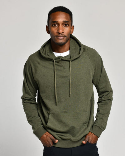 Olive Heather | French Terry Hoodie