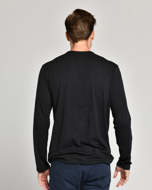 Black | Pima Cotton Henley