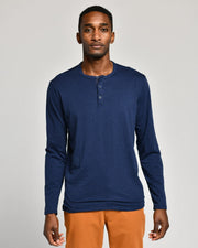 Navy | Pima Cotton Henley