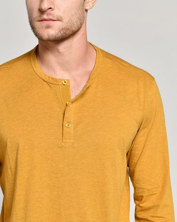 Gold | Pima Cotton Henley