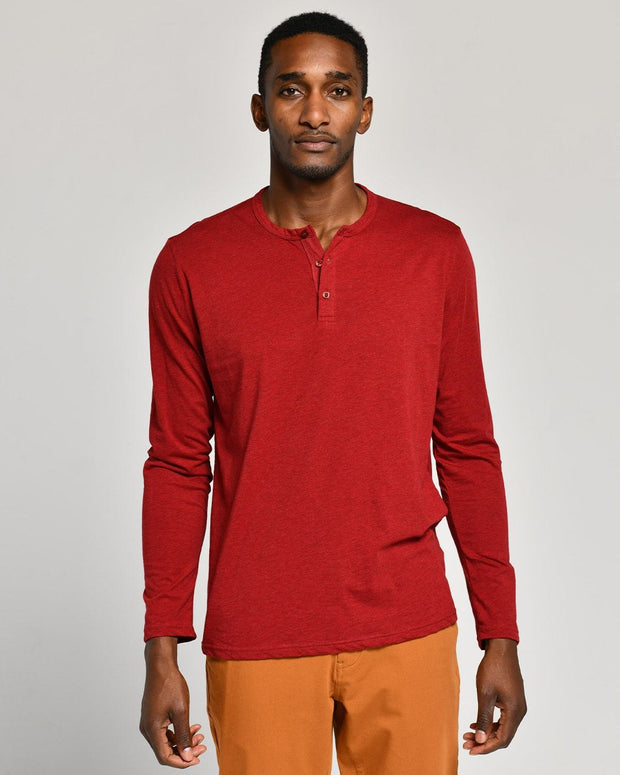 Red | Pima Cotton Henley