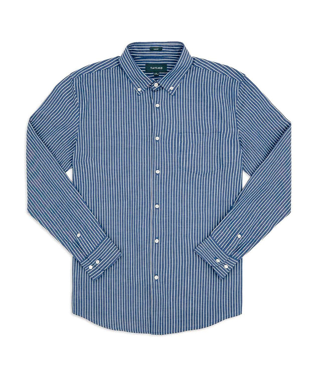 5fe34a4f5f5 Blue Pinstripe | Long Sleeve Button Down Shirt