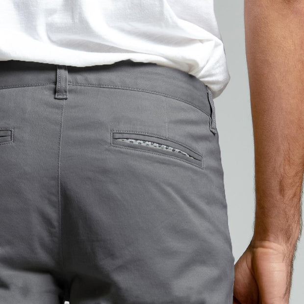 Slate Grey Stretch Chino Pants