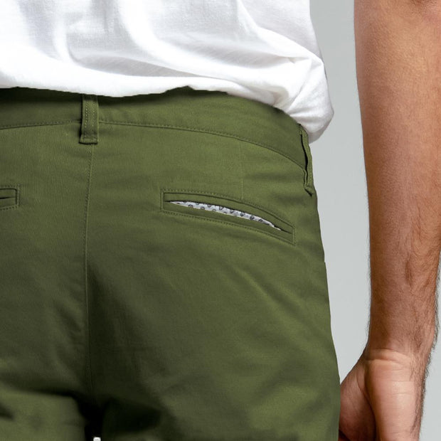 Olive Stretch Chino Pants