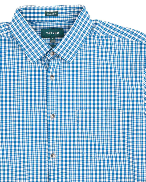 Light Blue Tech 4-Way Stretch Button Down Shirt