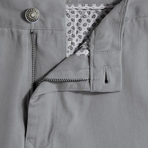 Slate Grey Stretch Chino Shorts