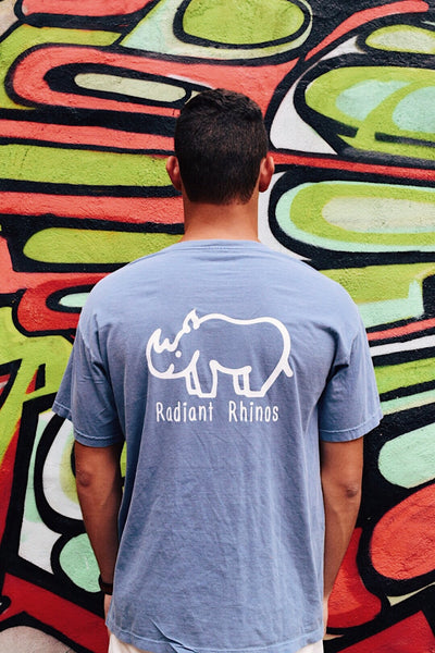 Radiant Blue Jean Short Sleeve Pocket Tee