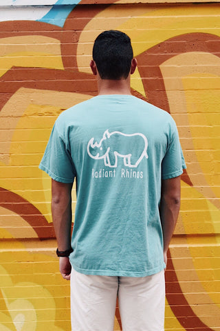 Radiant Seafoam Short Sleeve Pocket Tee