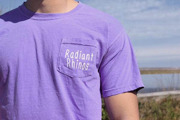 Radiant Violet Short Sleeve Pocket Tee