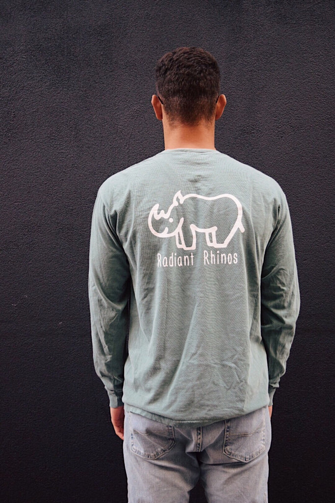 Radiant Light Green Long Sleeve Pocket Tee