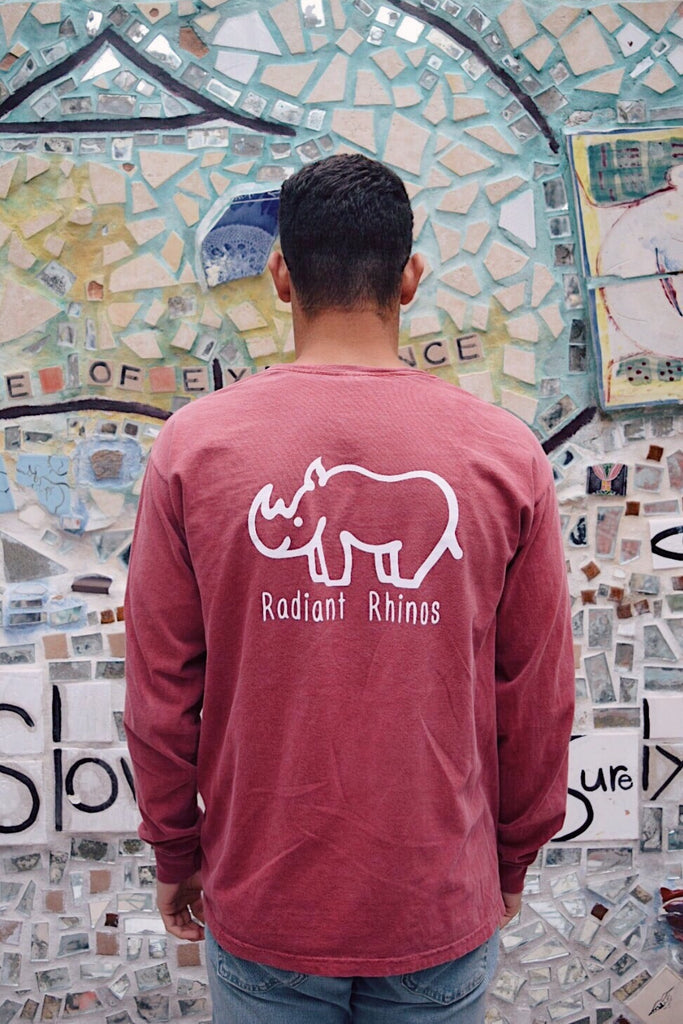 Radiant Brick Long Sleeve Pocket Tee