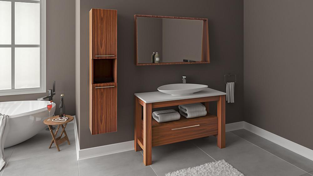 Lyra 48 Oak Wood - Vanity Set - Bathroom Vanity Bagnotti USA Luxury European Bathroom Furniture