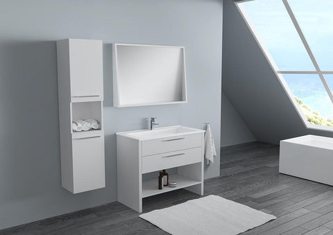 Halley 32 - Vanity Set - (Free Pop-up Drain) SALE! - Bathroom Vanity Bagnotti USA Luxury European Bathroom Furniture