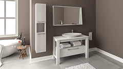 Lyra 48 - Vanity Set (Free Pop-up Drain) Sale - Bathroom Vanity Bagnotti USA Luxury European Bathroom Furniture