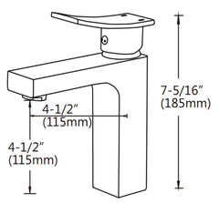 Yosa - Single Hole Bathroom Faucet -  Bagnotti USA Luxury European Bathroom Furniture
