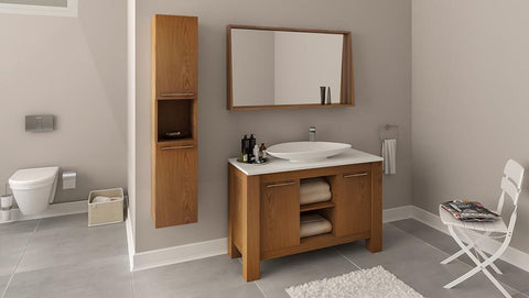 Leo 48 - Vanity Set - Bathroom Vanity Bagnotti USA Luxury European Bathroom Furniture
