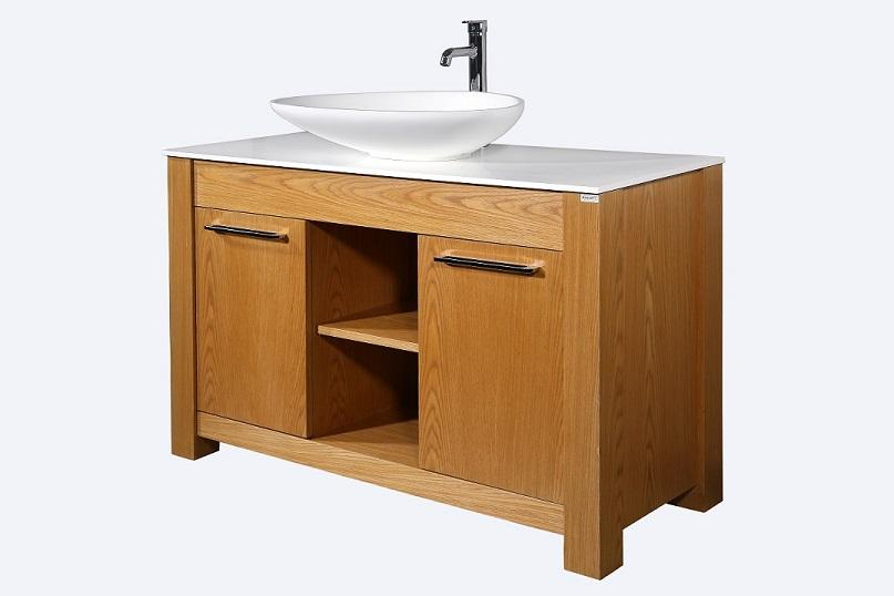 Leo 48 Oak Wood - Vanity Set - Sale - Bathroom Vanity Bagnotti USA Luxury European Bathroom Furniture