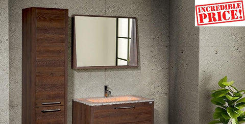 Mira 40 - Vanity Set (Free Popup Drain) - Bathroom Vanity Bagnotti USA Luxury European Bathroom Furniture