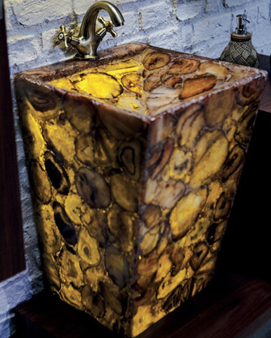 Pyramide - Precious Stone Vanity - Sale - Bathroom Vanity Bagnotti USA Luxury European Bathroom Furniture